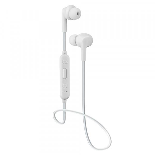 Bluetooth гарнитура (стерео)  шейный шнурок, Perfeo TYRO внутриканальная, с микрофоном, белый