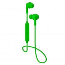 Bluetooth гарнитура (стерео)  шейный шнурок, Perfeo TYRO внутриканальная, с микрофоном, зелёный