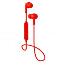 Bluetooth гарнитура (стерео)  шейный шнурок, Perfeo TYRO внутриканальная, с микрофоном, красный