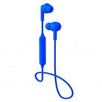 Bluetooth гарнитура (стерео)  шейный шнурок, Perfeo TYRO внутриканальная, с микрофоном, синий