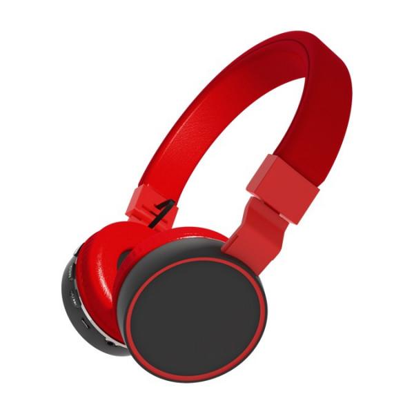 Bluetooth гарнитура (стерео) Ritmix RH-415BTH, накладная, (TF, FM, AUX), чёрно-красный