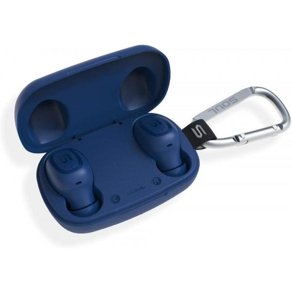 Bluetooth гарнитура (стерео)  TWS SOUL S-GEAR, синий