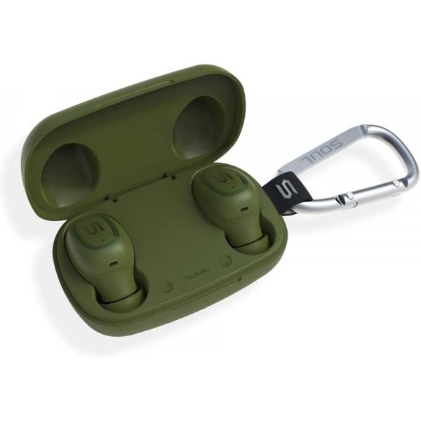 Bluetooth гарнитура (стерео)  TWS SOUL S-GEAR, зелёный