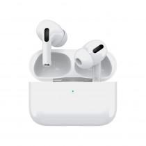 Bluetooth гарнитура (стерео)  TWS Deppa Air Pro, функция беспроводной зарядки Qi, белый