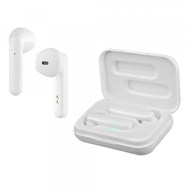 Bluetooth гарнитура (стерео)  TWS Perfeo COMFY автосопряжение, белый
