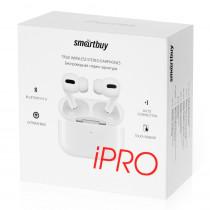 Bluetooth гарнитура (стерео)  TWS Smartbuy SBH-3016 iPro Ultra Bass, функция беспроводной зарядки Qi