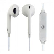 Bluetooth гарнитура (стерео)  шейный шнурок, Perfeo LIGHT внутриканальная, с микрофоном, белый