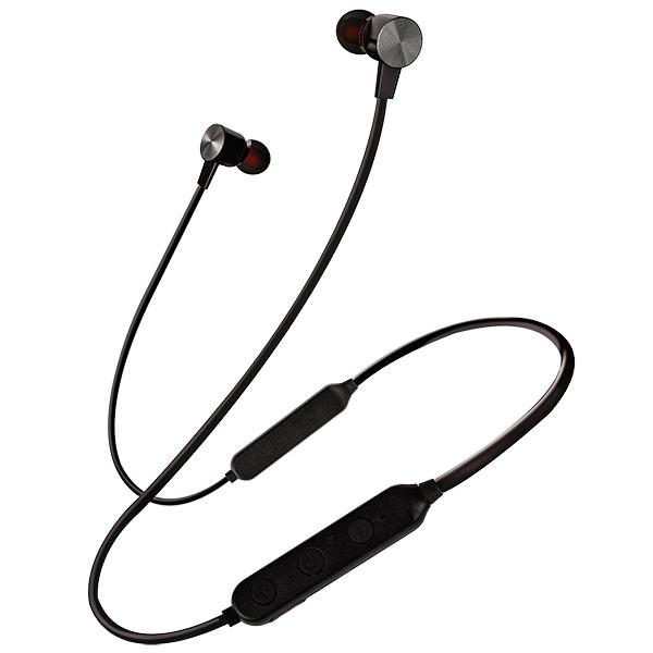 Bluetooth гарнитура (стерео)  шейный шнурок, Perfeo BALANCE внутриканальная, с микрофоном, серебро