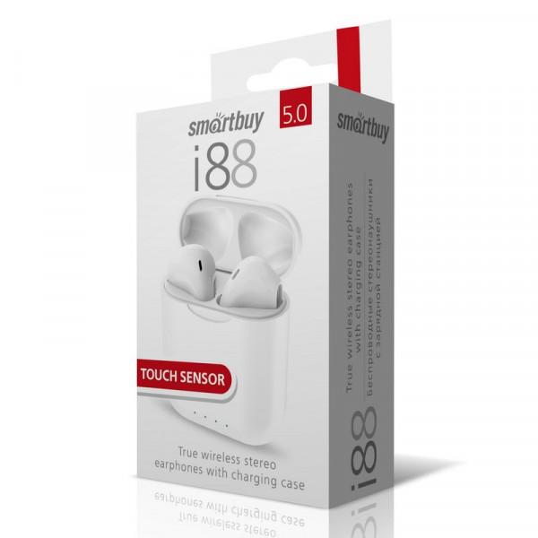 Bluetooth гарнитура (стерео)  TWS Smartbuy SBH-3039 i88, BT 5.0, Touch Sensor