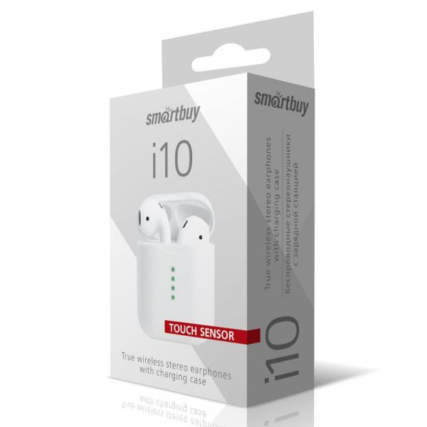 Bluetooth гарнитура (стерео)  TWS Smartbuy SBH-304 i10, Touch Sensor