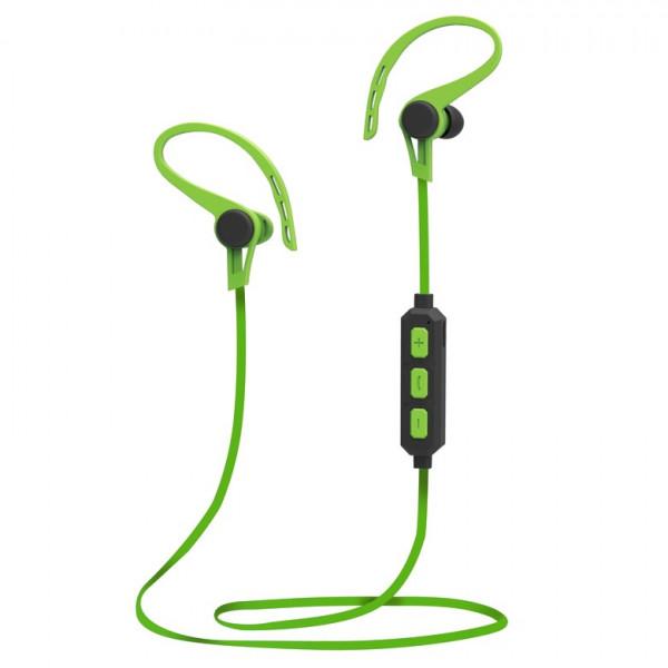 Bluetooth гарнитура (стерео)  шейный шнурок, SmartBuy SBH-775 Agility, чёрн/зелёный