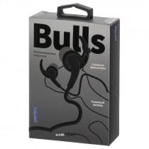 Наушники Perfeo BULLS внутриканальные, тканевый провод чёрные (30)