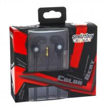 SBE-3010 Внутриканальные наушники Smartbuy Color Beat, металл.корпус, сменные насадки, чёрные