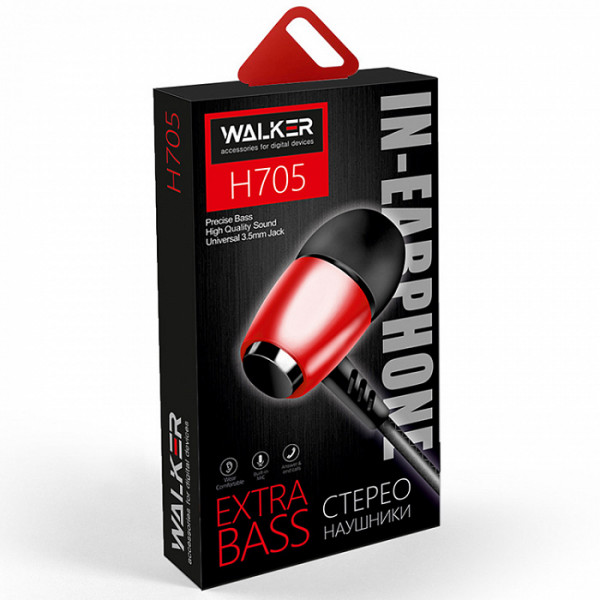Гарнитура WALKER H705, красный