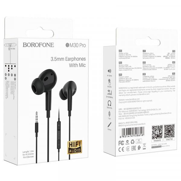 Гарнитура Borofone BM30 Pro, чёрная