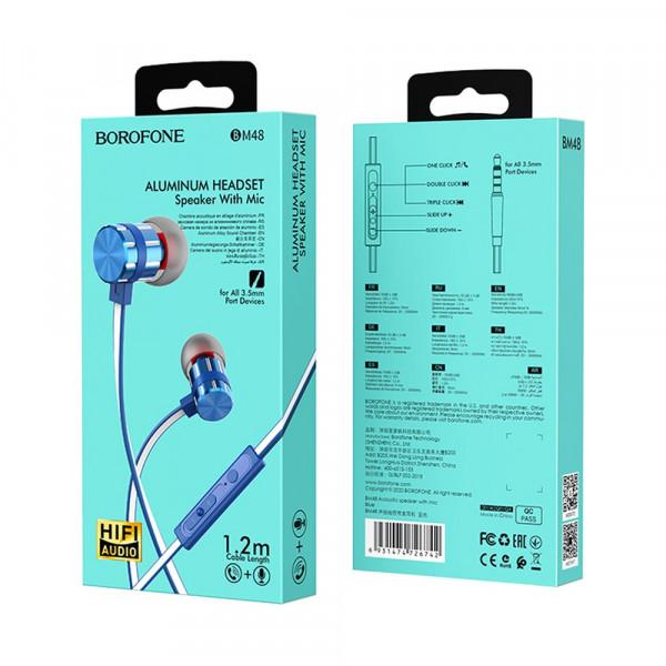 Гарнитура Borofone BM48, синяя
