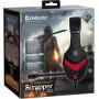 Гарнитура полноразмерная игровая Defender Scrapper 500, кабель 2 м, красный+чёрный