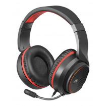 Гарнитура полноразмерная игровая Defender Apex Pro, объемный звук 7.1, кабель 1,8 м, чёрный+красный