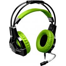 Гарнитура полноразмерная игровая Defender Lester, кабель 2,2 м, чёрный+зелёный
