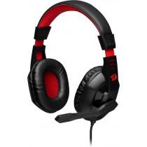 Гарнитура полноразмерная игровая Redragon Ares, кабель 2 м, красный+чёрный