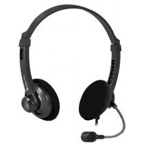 Гарнитура накладная Defender Aura HN-104, кабель1,8м, чёрная