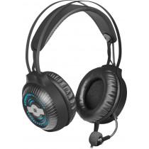 Гарнитура полноразмерная игровая Defender Stellar Pro, объемный звук 7.1, кабель 2,2 м, чёрный