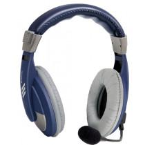 Гарнитура полноразмерная Defender Gryphon 750, кабель 2 м, синяя