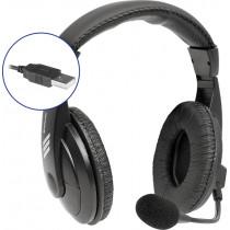 Гарнитура полноразмерная Defender Gryphon 750U USB, кабель 1.8м, чёрный