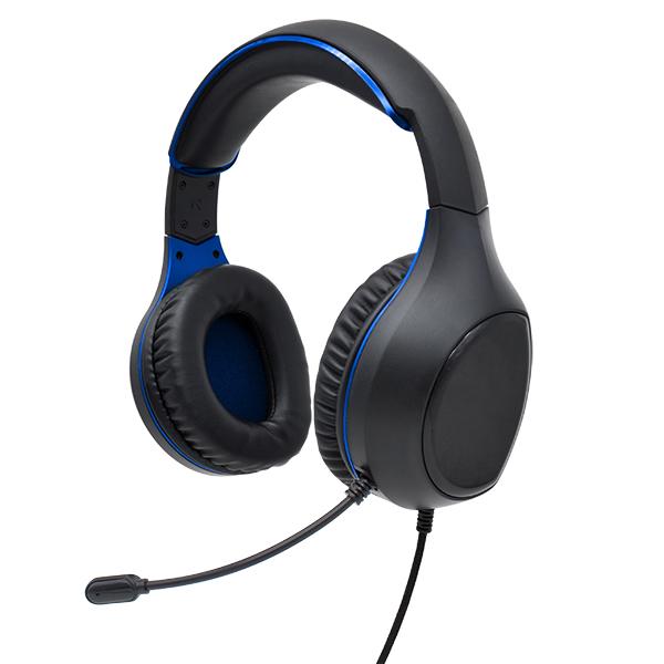 Гарнитура полноразмерная игровая Perfeo ACTION, разъёмы 2x3.5 мм (3 pin), кабель 1,8м, чёрно-синий