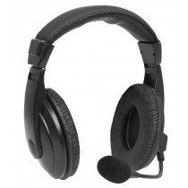 Гарнитура полноразмерная Perfeo U-TALK, микрофон, кабель 2,4м, USB, чёрная