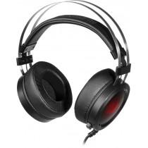 Гарнитура полноразмерная игровая Redragon Scylla, кабель 2м, чёрный+красный