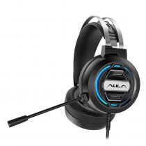 Гарнитура полноразмерная игровая AULA S603, 2 х 3.5 Jack + USB, подсветка 7 цветов, чёрный