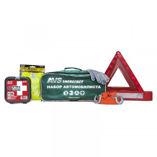 Набор автомобилиста AVS Emergency AN-01G (6 предм.), зелёная сумка