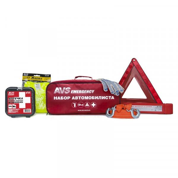 Набор автомобилиста AVS Emergency AN-01R (6 предм.), красная сумка