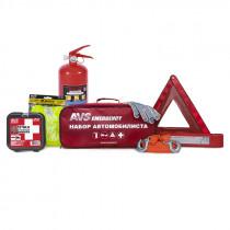 Набор автомобилиста AVS Emergency AN-02R (7 предм.), красная сумка