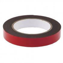 Клейкая лента Smartbuy 1,0 х19 мм, 2 м, двусторонняя, на вспененной основе, чёрная