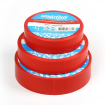 Изолента Smartbuy 0,13 х15 мм, 10м, красная