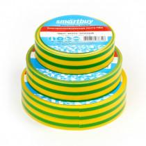 Изолента Smartbuy 0,13 х15 мм, 10м, жёлто-зелёная