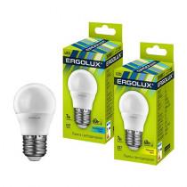 Лампа светодиодная G45 E27 7W 6500K (шар) Ergolux NEW
