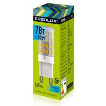 Лампа светодиодная G9 7W 4500K Ergolux