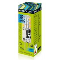 Лампа светодиодная G4 JC 2W 4500K Ergolux