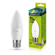 Лампа светодиодная C35 E27 11W 6500K (cвеча) Ergolux