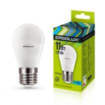 Лампа светодиодная G45 E27 11W 4500K (шар) Ergolux