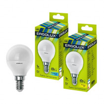 Лампа светодиодная G45 E14 7W 4500K (шар) Ergolux