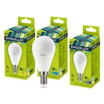 Лампа светодиодная G45 E14 9W 6500K (шар) Ergolux