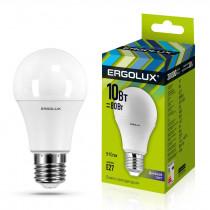Лампа светодиодная A60 E27 10W 6500K ЛОН Ergolux NEW