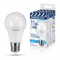 Лампа светодиодная A60 E27 11W 4500K ЛОН Ergolux