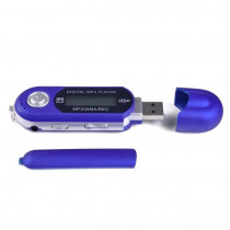 MP3-плеер с дисплеем, USB, фиолетовый (1xAAA)
