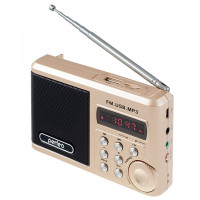 PF-SV922AU Perfeo мини-аудио Sound Ranger, УКВ+FM, MP3 (USB/TF),USB-audio, BL-5C 1000 мАч, шамп.золот