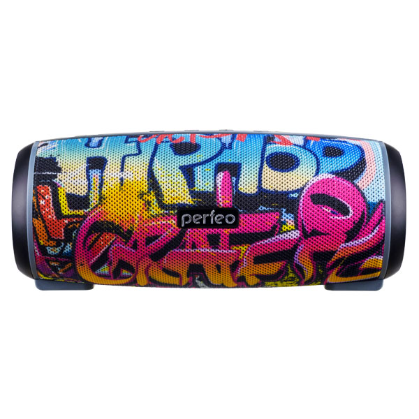 "PF_A4336 Perfeo беспровод. колонка ""HIP HOP"" Bluetooth, FM, TF, USB, AUX, 2600мAh, 12Вт, граффити"